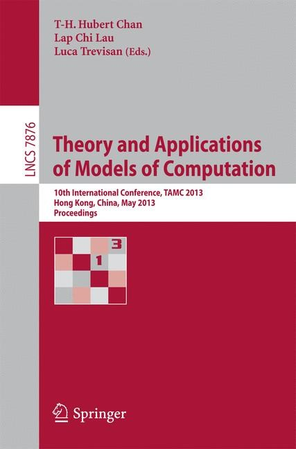 Abbildung von Chan / Lau / Trevisan | Theory and Applications of Models of Computation | 2013