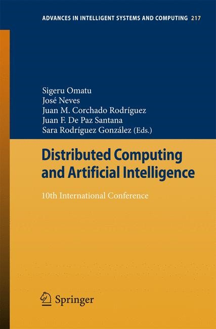 Distributed Computing and Artificial Intelligence | Omatu / Neves / Rodriguez / Paz Santana / Gonzalez, 2013 | Buch (Cover)