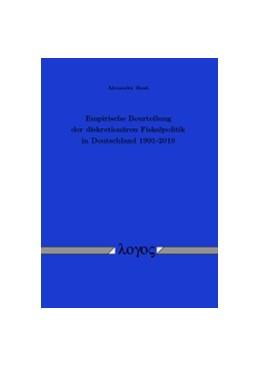 Abbildung von Bank   Empirische Beurteilung der diskretionären Fiskalpolitik in Deutschland 1991-2010   1. Auflage 2013   2013
