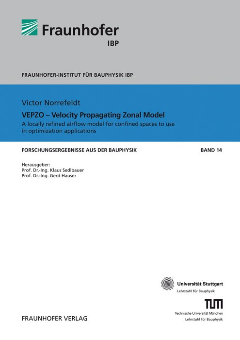 VEPZO - Velocity Propagating Zonal Model. | / Sedlbauer / Hauser, 2013 | Buch (Cover)