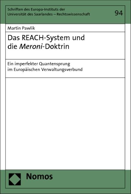 Abbildung von Pawlik | Das REACH-System und die Meroni-Doktrin | 2013