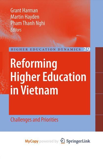 Abbildung von Harman / Hayden / Nghi Pham   Reforming Higher Education in Vietnam   1st Edition.   2010