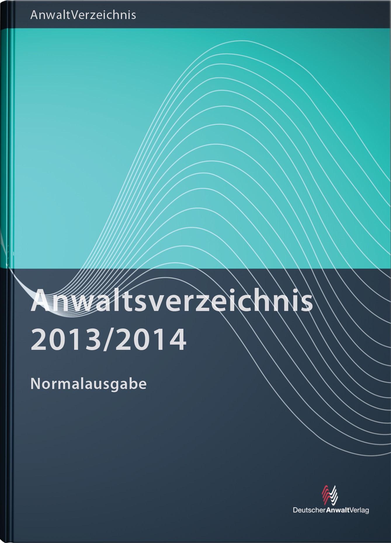 Anwaltsverzeichnis 2013/2014 Normalausgabe, 2013 | Buch (Cover)