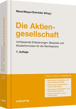 Abbildung von Manz / Mayer / Schröder (Hrsg.) | Die Aktiengesellschaft | 7. Auflage | 2014
