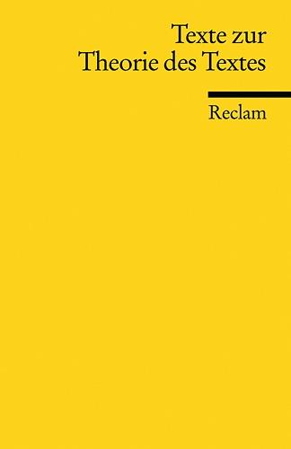 Abbildung von Kammerer / Lüdeke | Texte zur Theorie des Textes | 2005