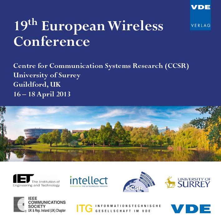 Abbildung von 19th European Wireless Conference 2013 | Neuerscheinung | 2013