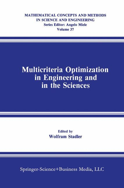 Abbildung von Stadler | Multicriteria Optimization in Engineering and in the Sciences | 1988