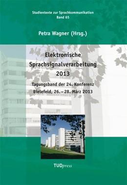 Abbildung von Wagner   Elektronische Sprachsignalverarbeitung 2013   2013   Tagungsband der 24. Konferenz ...   65