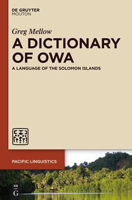 Abbildung von Mellow | A Dictionary of Owa | 2013 | A Language of the Solomon Isla... | 639