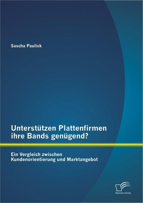 Abbildung von Paulick | Unterstützen Plattenfirmen ihre Bands genügend? Ein Vergleich zwischen Kundenorientierung und Marktangebot | 2013