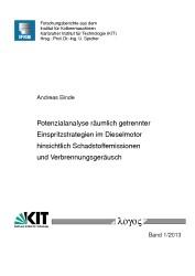 Abbildung von Binde | Potenzialanalyse räumlich getrennter Einspritzstrategien im Dieselmotor hinsichtlich Schadstoffemissionen und Verbrennungsgeräusch | 2013
