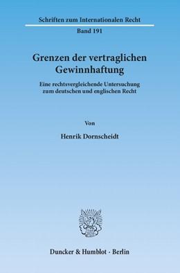 Abbildung von Dornscheidt | Grenzen der vertraglichen Gewinnhaftung | 1. Auflage 2013 | 2013 | Eine rechtsvergleichende Unter... | 191