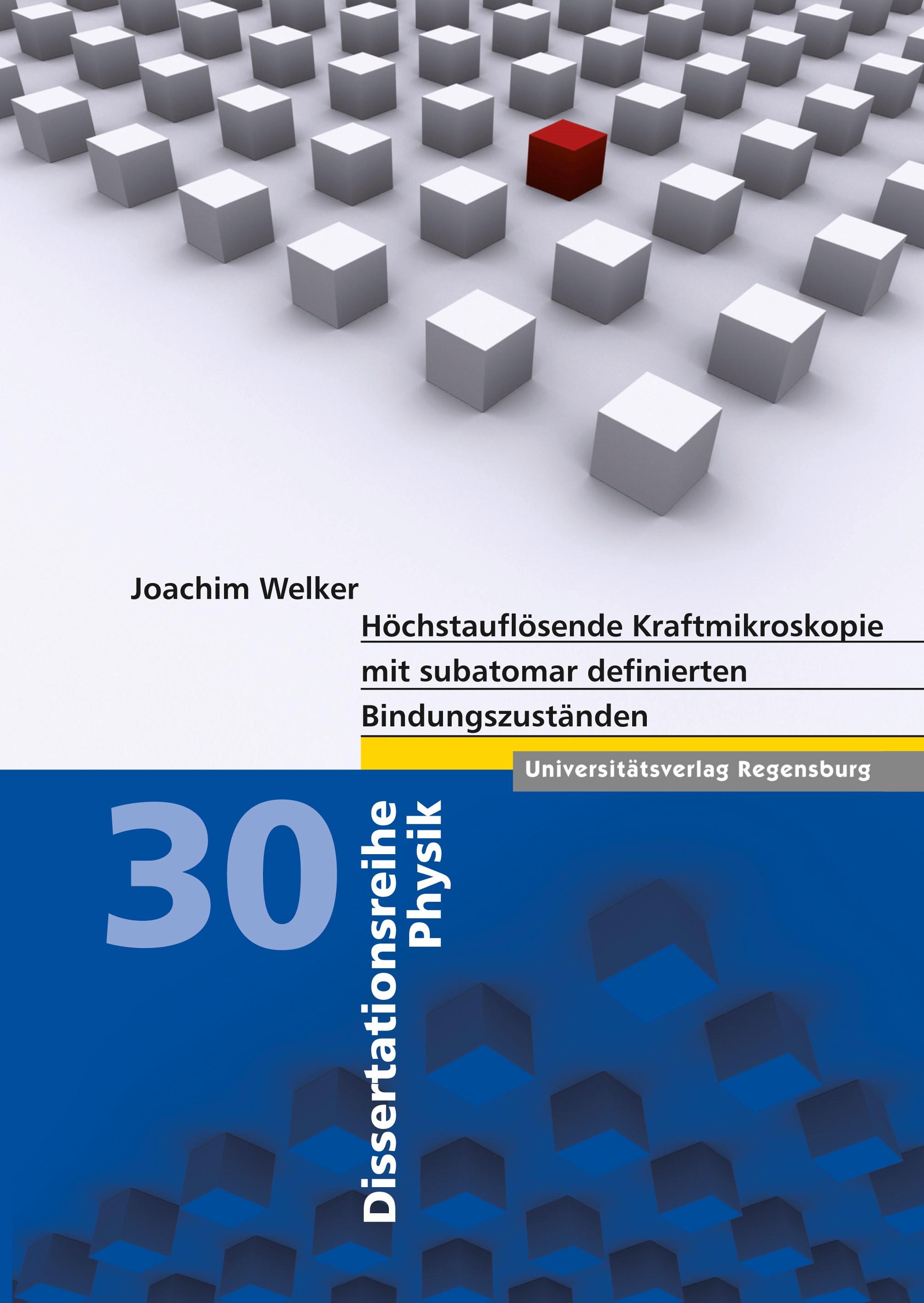 Abbildung von Welker | Höchstauflösende Kraftmikroskopie mit subatomar definierten Bindungszuständen | 2013