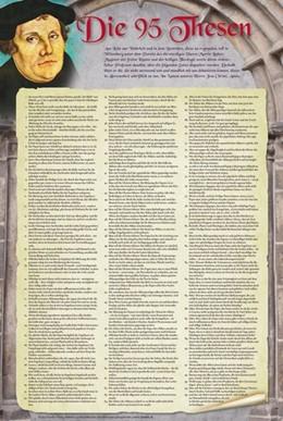 Abbildung von Die 95 Thesen nach Martin Luther | 2013