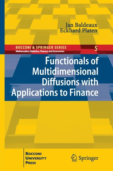 Abbildung von Baldeaux / Platen | Functionals of Multidimensional Diffusions with Applications to Finance | 2013