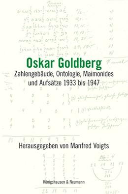 Abbildung von Voigts   Oskar Goldberg   2013   Zahlengebäude, Ontologie, Maim...