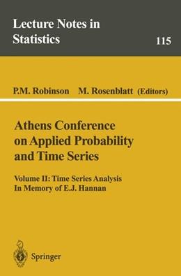 Abbildung von Robinson / Rosenblatt | Athens Conference on Applied Probability and Time Series Analysis | 1996