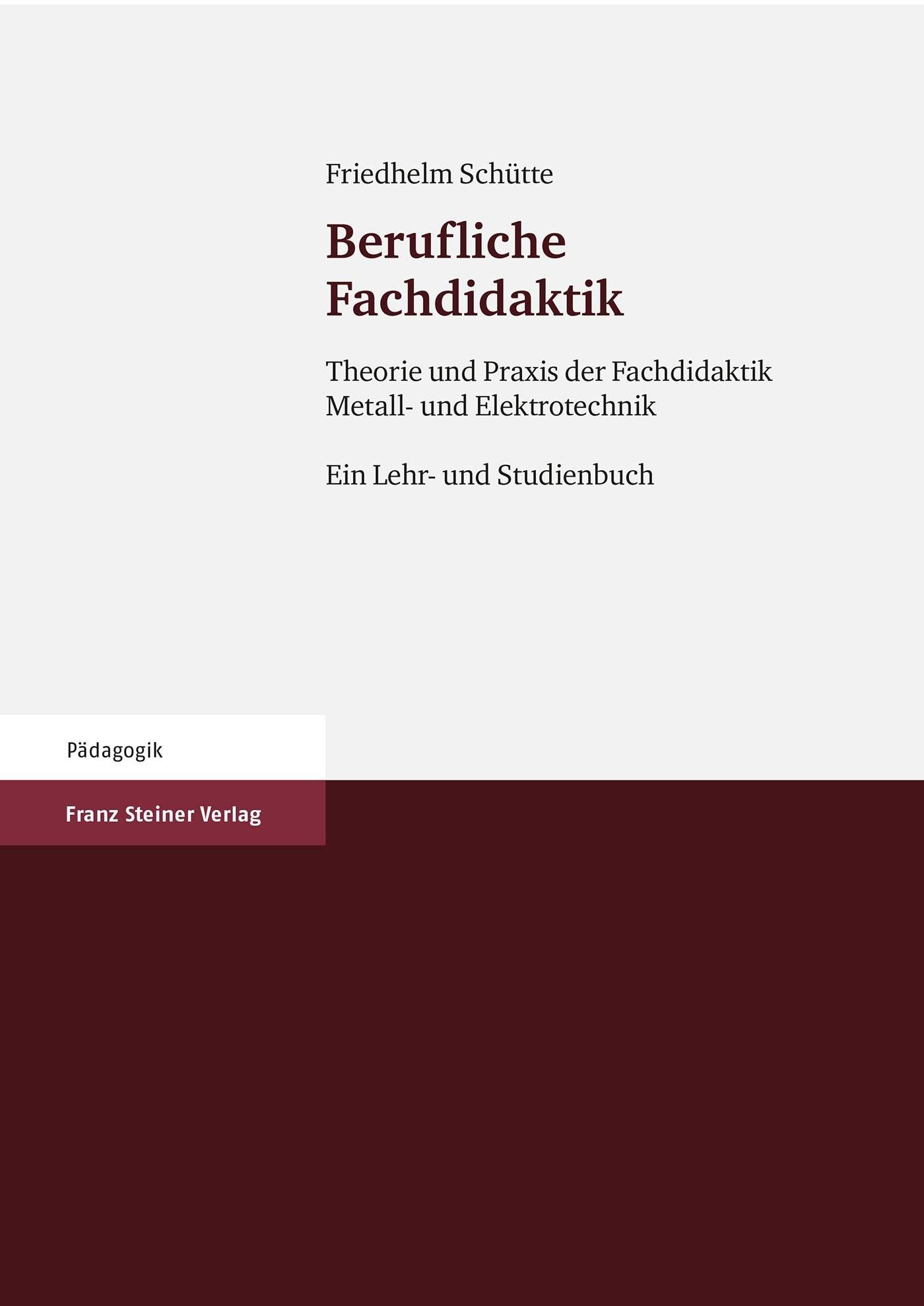 Abbildung von Schütte | Berufliche Fachdidaktik | 2006
