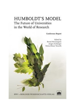Abbildung von Henningsen / Schlaeger / Tenorth | Humboldt's Model | 2013 | The Future of Universities in ...