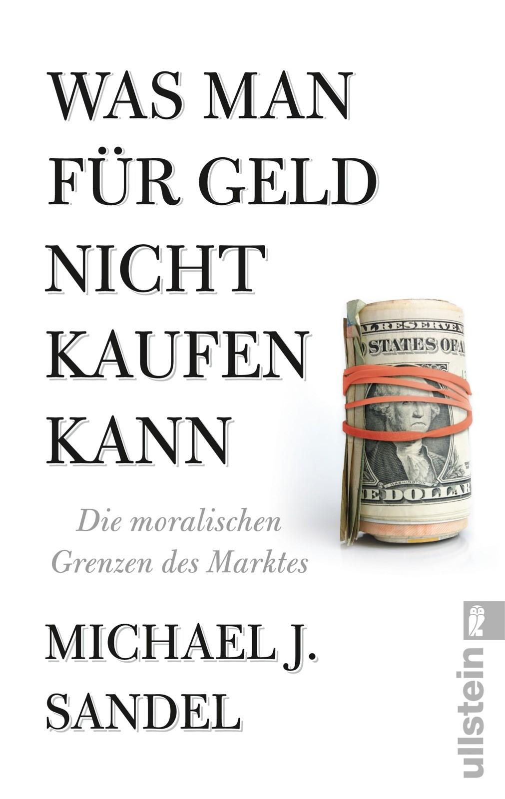 Abbildung von Sandel | Was man für Geld nicht kaufen kann | 2014