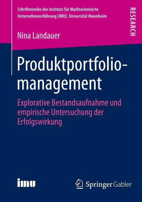 Abbildung von Landauer   Produktportfoliomanagement   1. Auflage 2013   2013