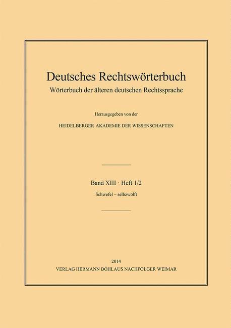 Abbildung von Deutsch | Deutsches Rechtswörterbuch | 2014