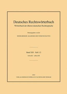 Abbildung von Deutsch | Deutsches Rechtswörterbuch | 1. Auflage | 2014 | beck-shop.de