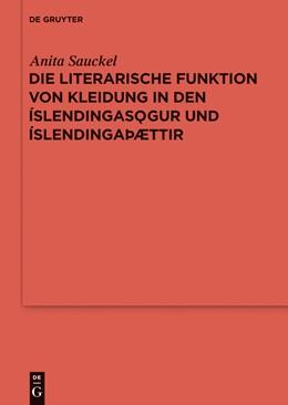 Abbildung von Sauckel | Die literarische Funktion von Kleidung in den Íslendingasögur und Íslendingaþættir | 2013 | 83
