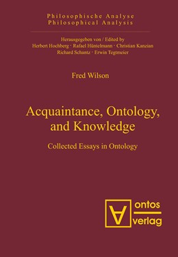 Abbildung von Wilson | Acquaintance, Ontology, and Knowledge | 2007 | Collected Essays in Ontology | 19