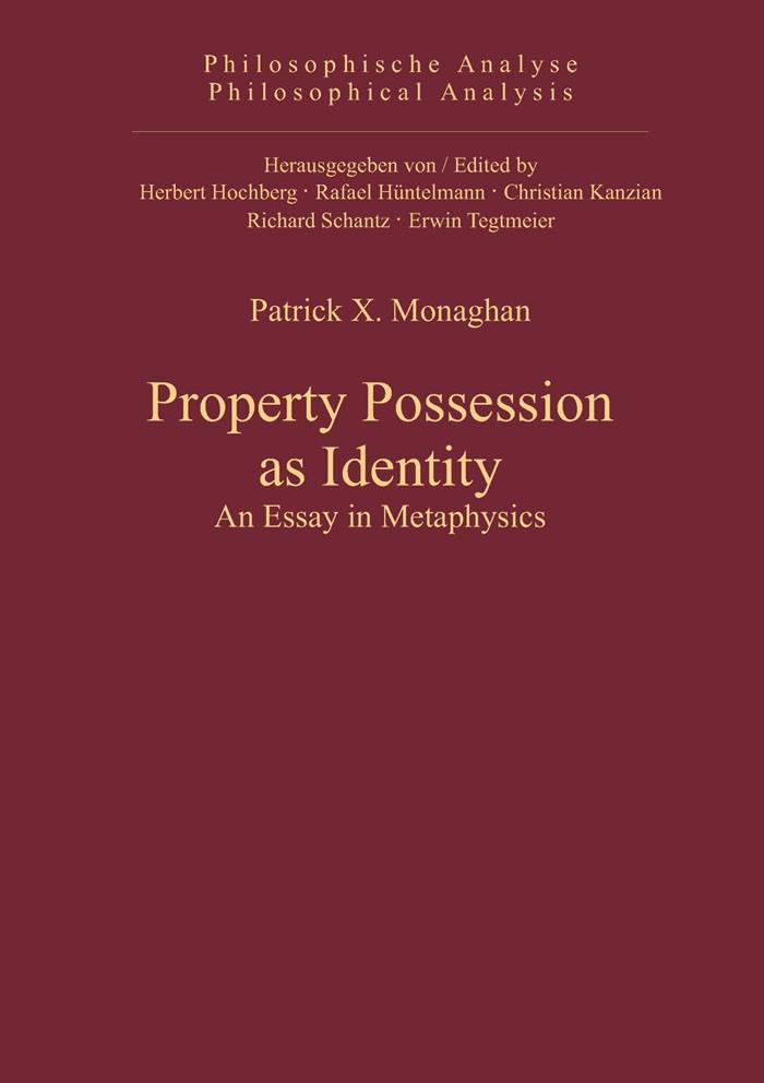 Abbildung von Monaghan | Property Possession as Identity | 2011