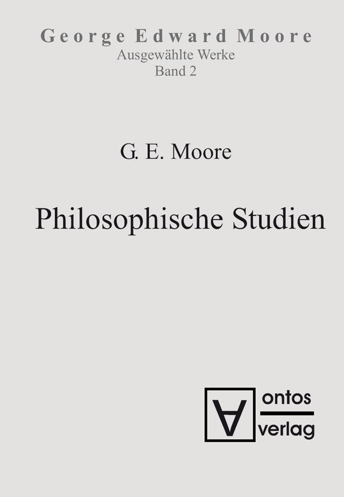 Abbildung von Moore | Philosophische Studien | 2007
