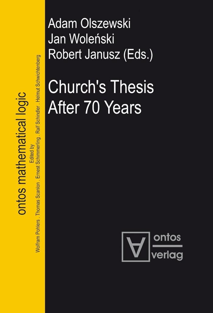 Church's Thesis After 70 Years | Olszewski / Wolenski / Janusz, 2006 | Buch (Cover)