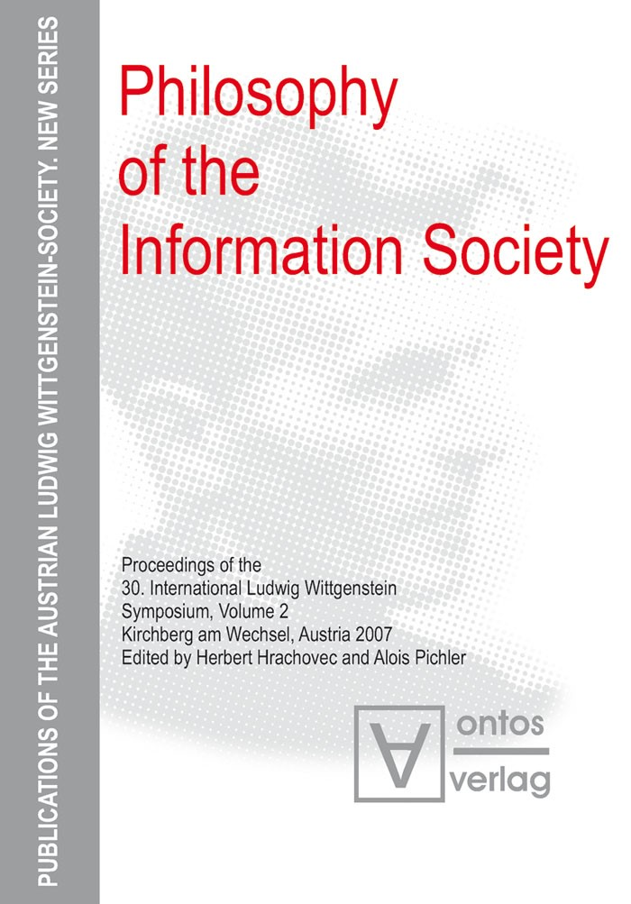 Abbildung von Hrachovec / Pichler | Philosophy of the Information Society | 2008