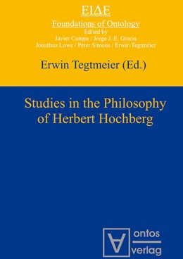 Abbildung von Tegtmeier | Studies in the philosophy of Herbert Hochberg | 2012 | 4
