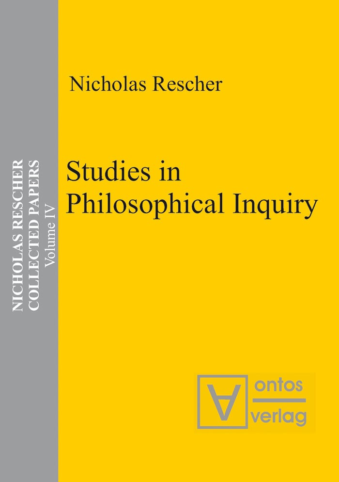 Abbildung von Rescher | Studies in Philosophical Inquiry | 2005