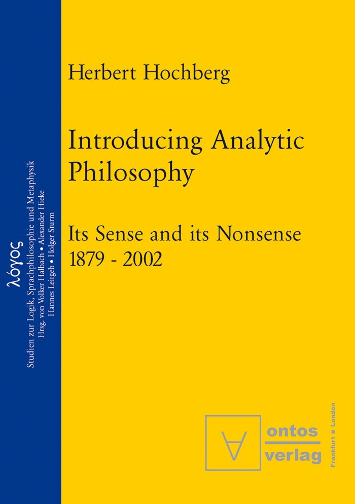 Abbildung von Hochberg | Introducing Analytic Philosophy | 2003