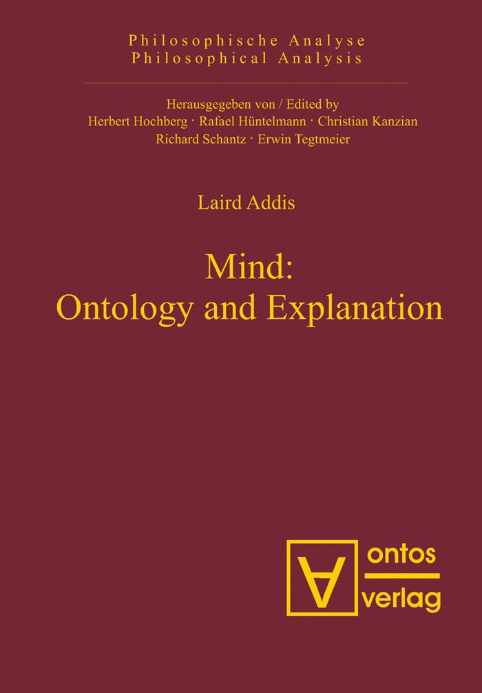 Abbildung von Addis | Mind: Ontology and Explanation | 2008