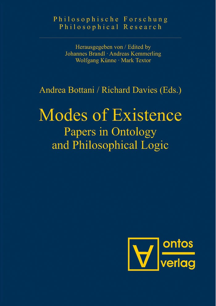 Modes of Existence | Bottani / Davies, 2006 | Buch (Cover)