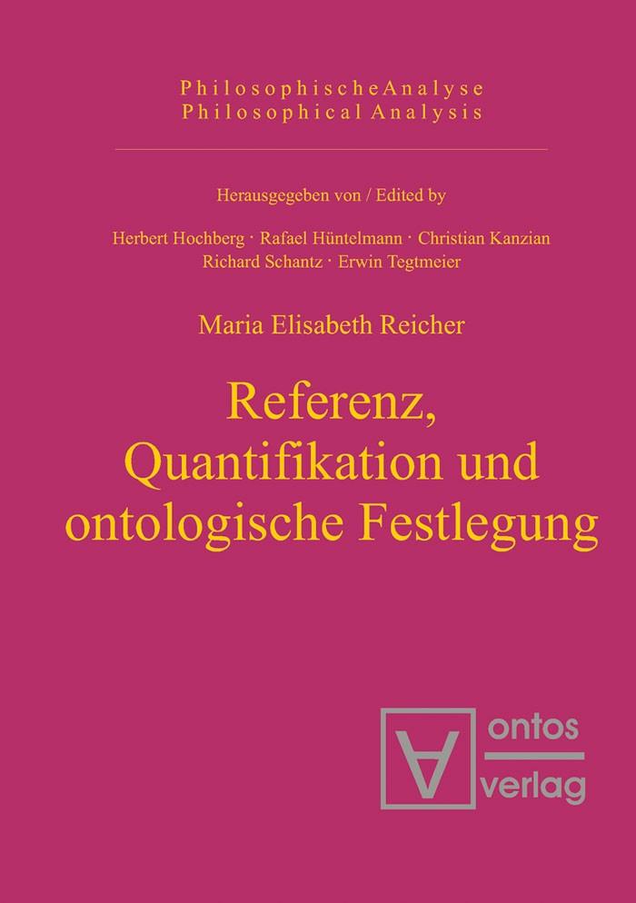 Abbildung von Reicher   Referenz, Quantifikation und ontologische Festlegung   2005