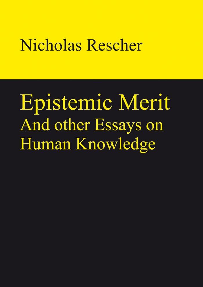 Abbildung von Rescher | Epistemic Merit | 2013