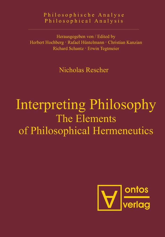 Abbildung von Rescher | Interpreting Philosophy | 2007