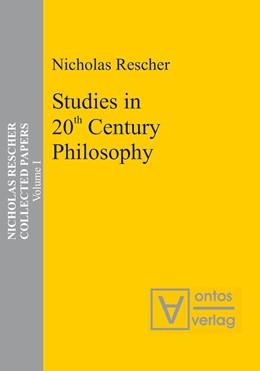 Abbildung von Rescher | Studies in 20th Century Philosophy | 2005