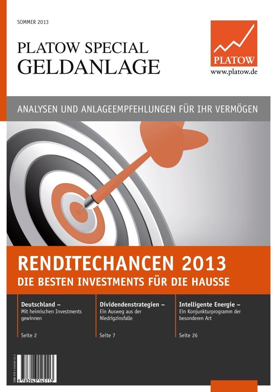 Renditechancen 2013 | Schirmacher, 2013 | Buch (Cover)