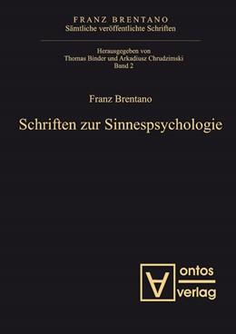 Abbildung von Binder / Chrudzimski | Schriften zur Sinnespsychologie | 2009