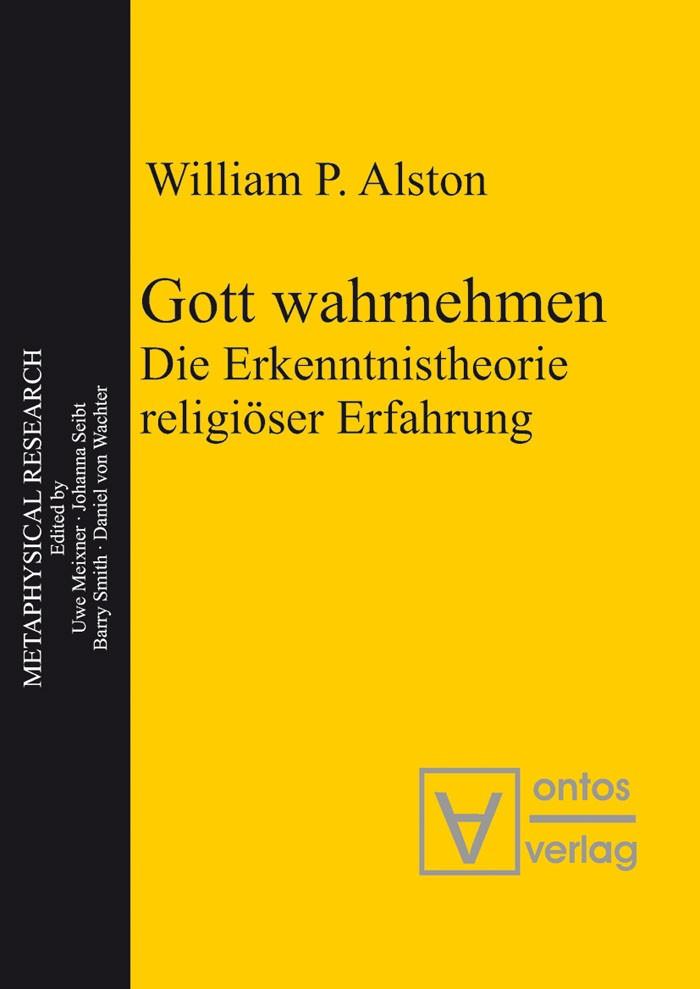 Abbildung von Alston | Gott wahrnehmen | 2006