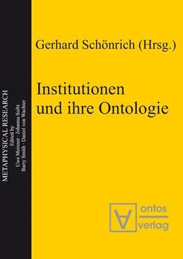 Abbildung von Schönrich | Institutionen und ihre Ontologie | 2005 | 3