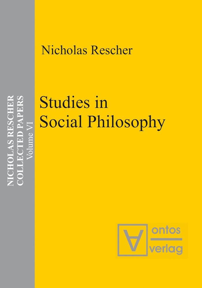 Abbildung von Rescher | Studies in Social Philosophy | 2006