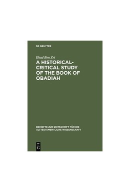 Abbildung von Ben Zvi | A Historical-Critical Study of the Book of Obadiah | Reprint 2012 | 1996 | 242