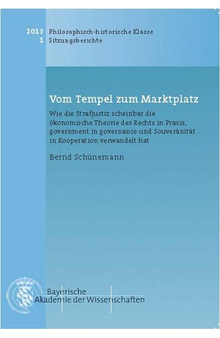 Cover: Bernd Schünemann, Vom Tempel zum Marktplatz
