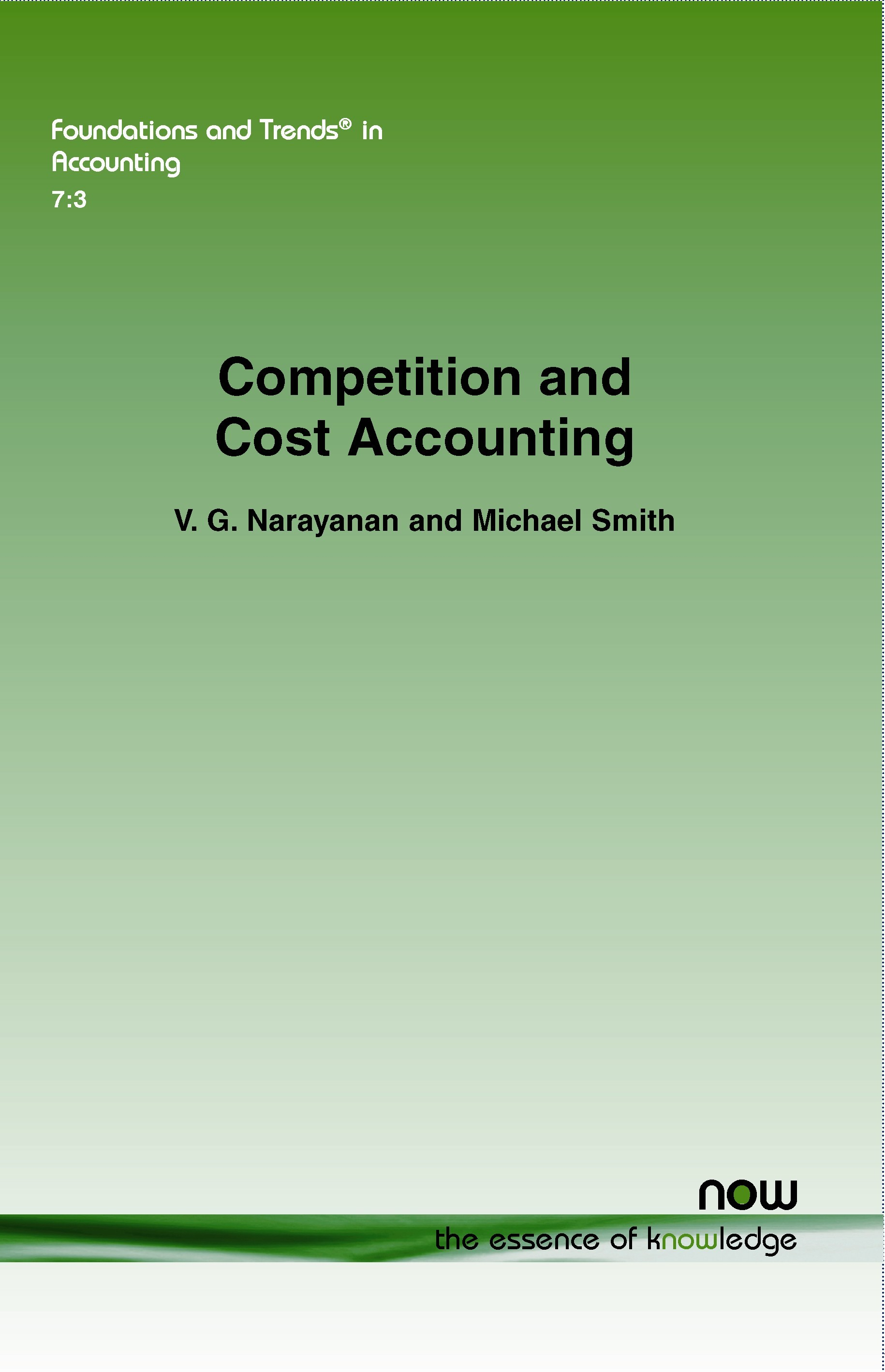 Abbildung von Narayanan / Smith | Competition and Cost Accounting | 2013